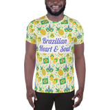 Brazilian Heart & Soul All-Over Print Travel Souvenir Men's Athletic T-shirt