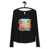 Ladies' Long Sleeve Tee with Vintage Copacabana Print