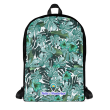 Load image into Gallery viewer, Green Floral Water-Proof Backpack