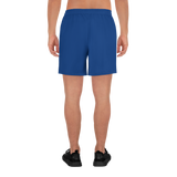 Basic Navy Blue Men's Athletic Long Shorts