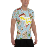 Italian Pizza Lover All-Over Print Men's Athletic T-shirt