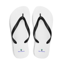 Load image into Gallery viewer, Talita's Wanderlust Basic White Flip-Flops