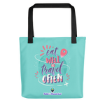 Eat Well & Travel Often Tote Bag