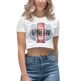 Women's Crop Top with London Print