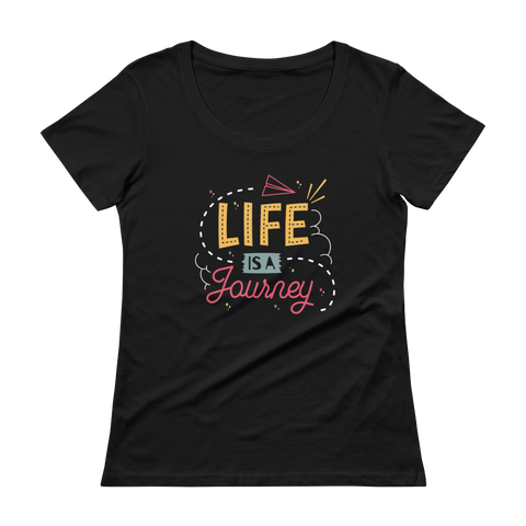 Life's a Journey Ladies' Scoopneck T-Shirt