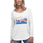 Ladies' Long Sleeve Tee with Venice Print
