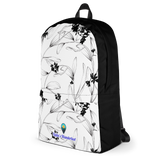 Black & White Floral Water-Proof Backpack