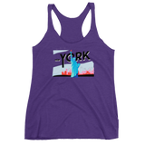 New York Print Women's Racerback Tank