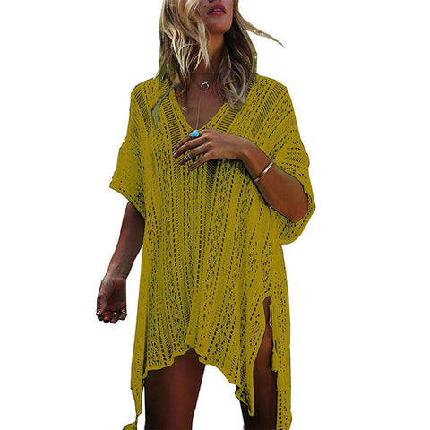 See-Through Summer Kaftan Beach Dress
