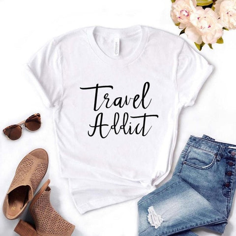 Travel Addict Women T-shirt