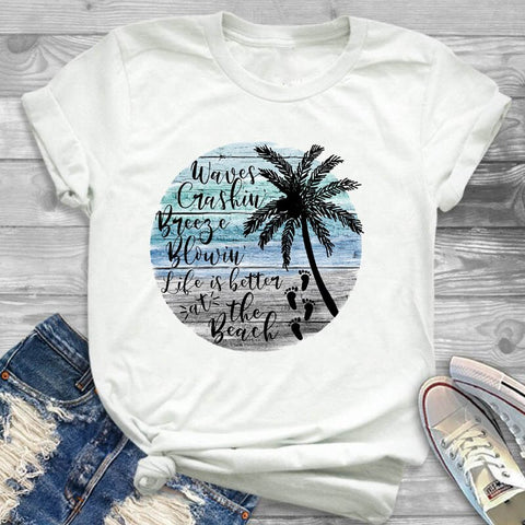 Life's Better at the Beach Women T-shirt