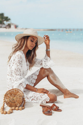 Floral Lace Bikini Cover Up