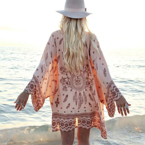 Elegant Floral Beach Dress