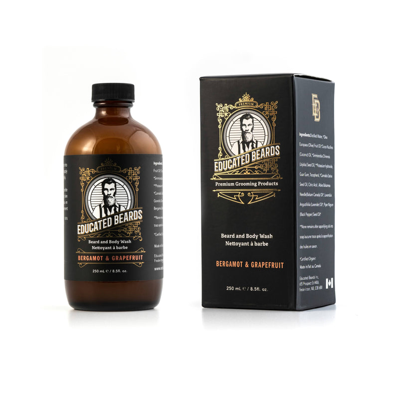 Educated Beards BEARD & BODY WASH Bergamot Grapefruit