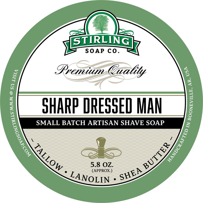 Stirling Soap SHAVE SOAP Sharp Dressed Man