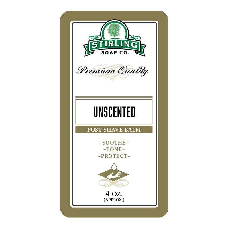 Stirling Soap Company UNSCENTED - Post-Shave Balm