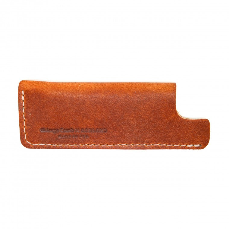 Chicago Comb HORWEEN TAN LEATHER Small Sheath