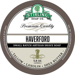 Stirling Soap SHAVE SOAP Haverford