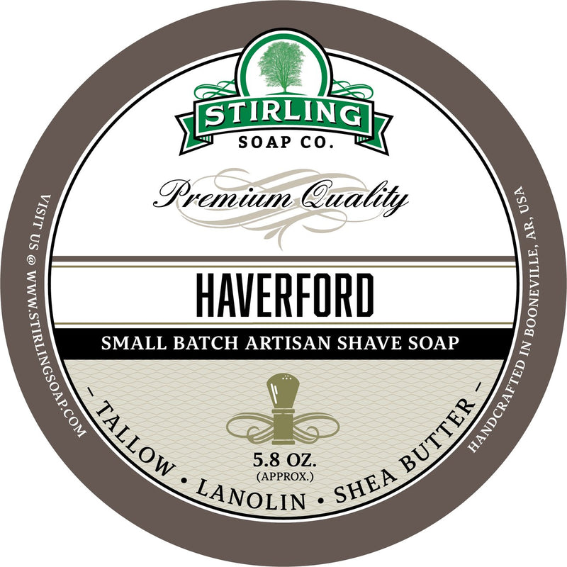Stirling Soap Company HAVERFORD - Shave Soap