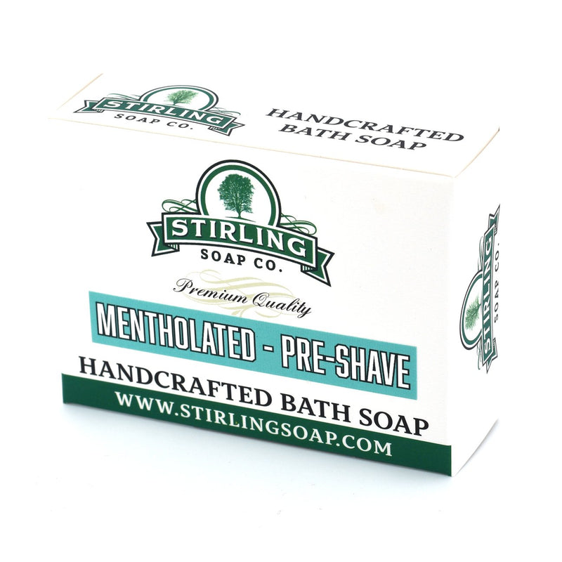 Stirling Soap Company UNSCENTED MENTHOLATED Pre-Shave Soap