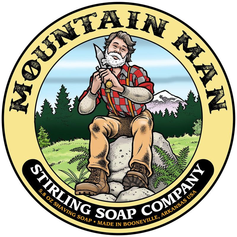 Stirling Soap Company Mountain Man - Shave Soap