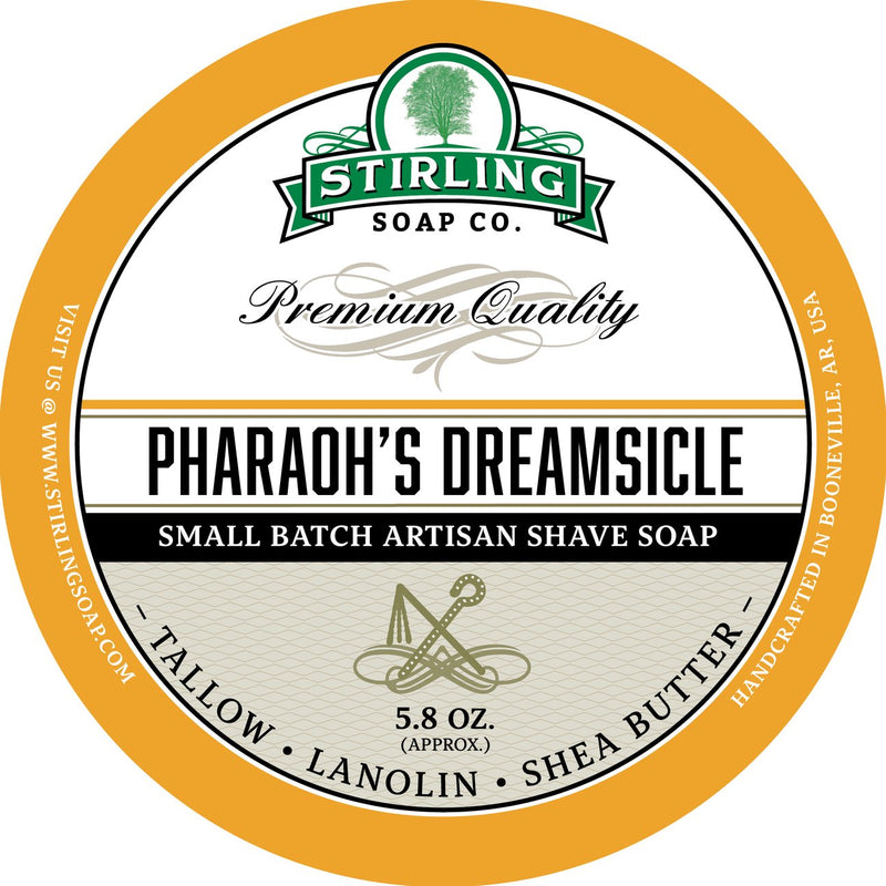 Stirling Soap SHAVE SOAP Pharaoh's Dreamsickle