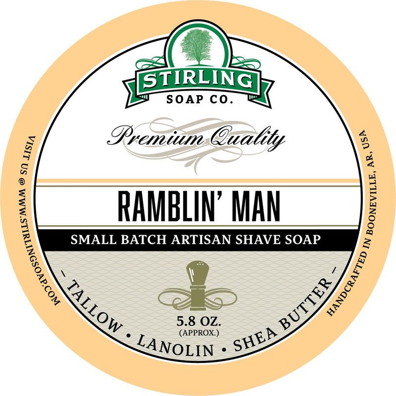 Stirling Soap SHAVE SOAP Ramblin' Man