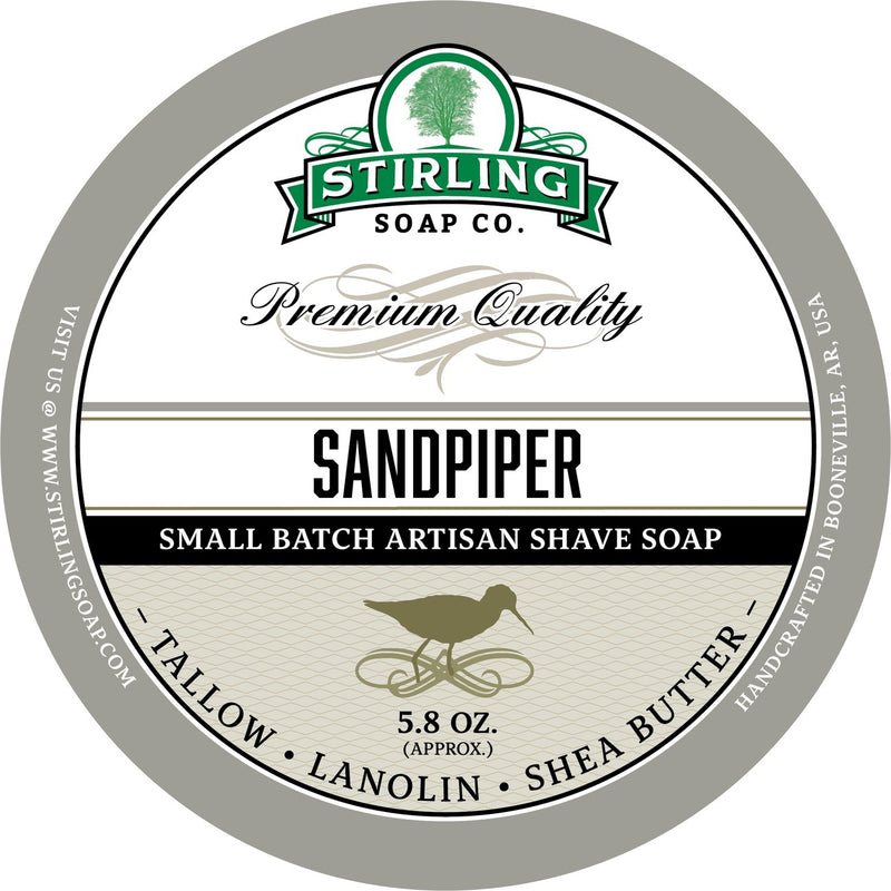 Stirling Soap SHAVE SOAP Sandpiper