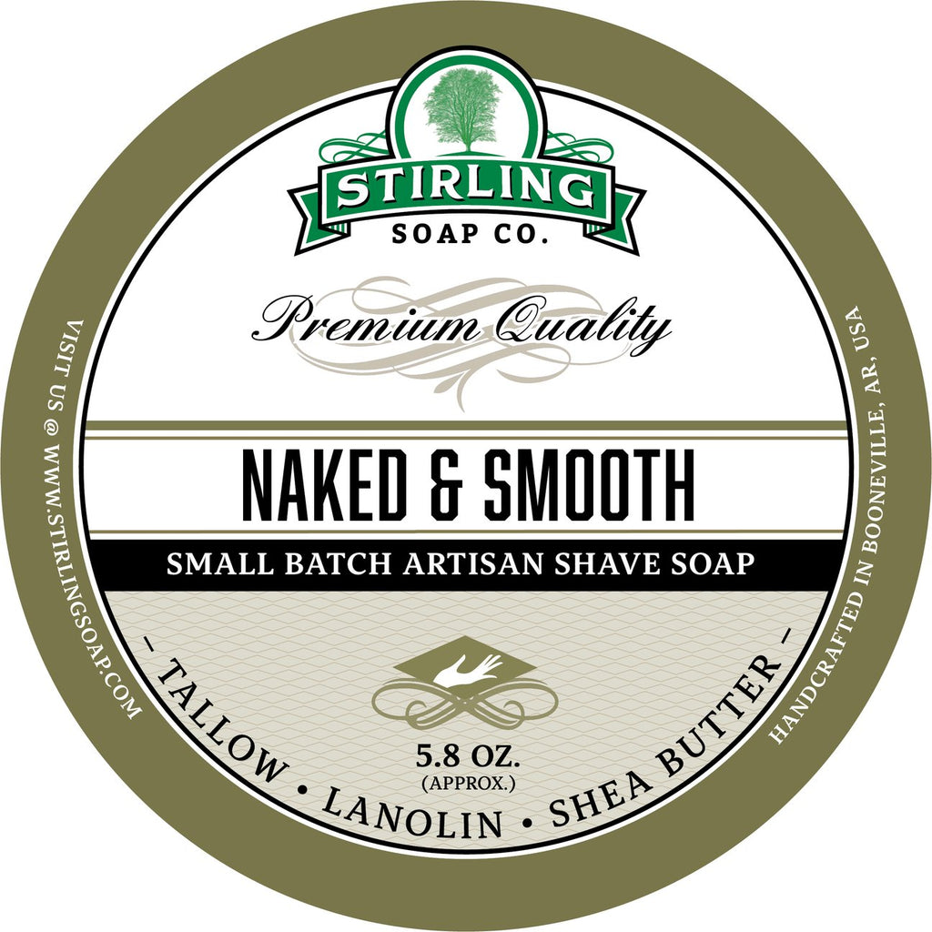 Stirling Soap SHAVE SOAP Unscented Naked & Smooth