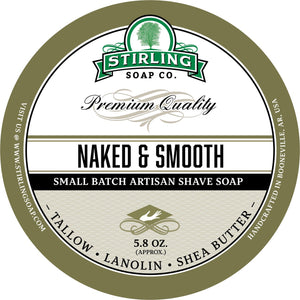 Stirling Soap Company UNSCENTED NAKED & SMOOTH  Shave Soap