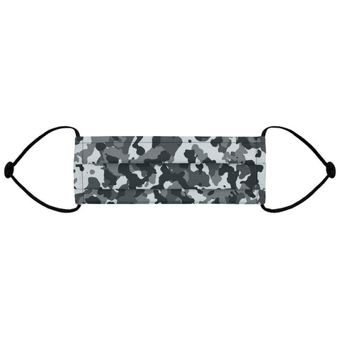 Grey Camo - Adjustable Face Mask (Filter Compatible)