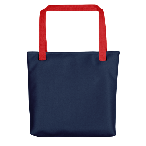 Navy / Red - Reusable Utility Travel Tote