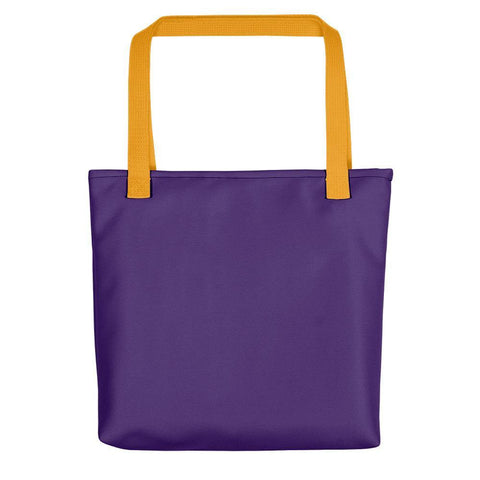 Purple / Yellow - Reusable Utility Travel Tote