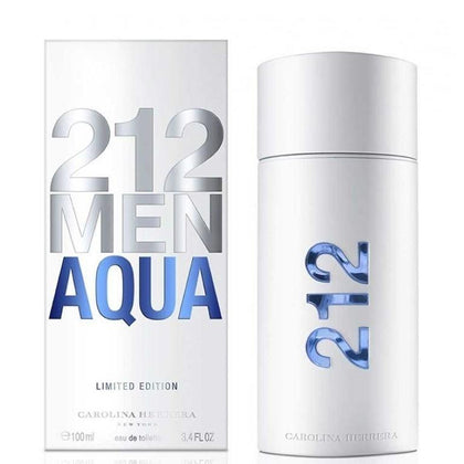 Perfume 212 Men Aqua para Hombre de Carolina Herrera EDT 100ML - Arome Mexico
