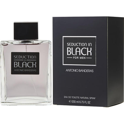 Perfume Seduction in Black para Hombre de Antonio Banderas EDT 200ML - Arome Mexico