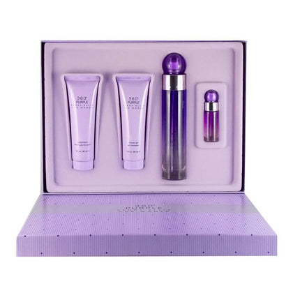 Set 4 pzs 360° Purple Para Mujer de Perry Ellis Eau de Parfum 100ml - Arome Mexico