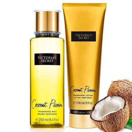 Set Coconut Passion para Mujer de Victorias Secret 250ML - Arome Mexico