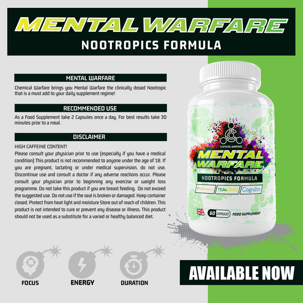 Mental Warfare™ - Nootropic Complex  (60 Capsules)