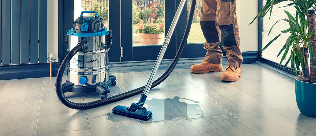 Vacuuming water from floor