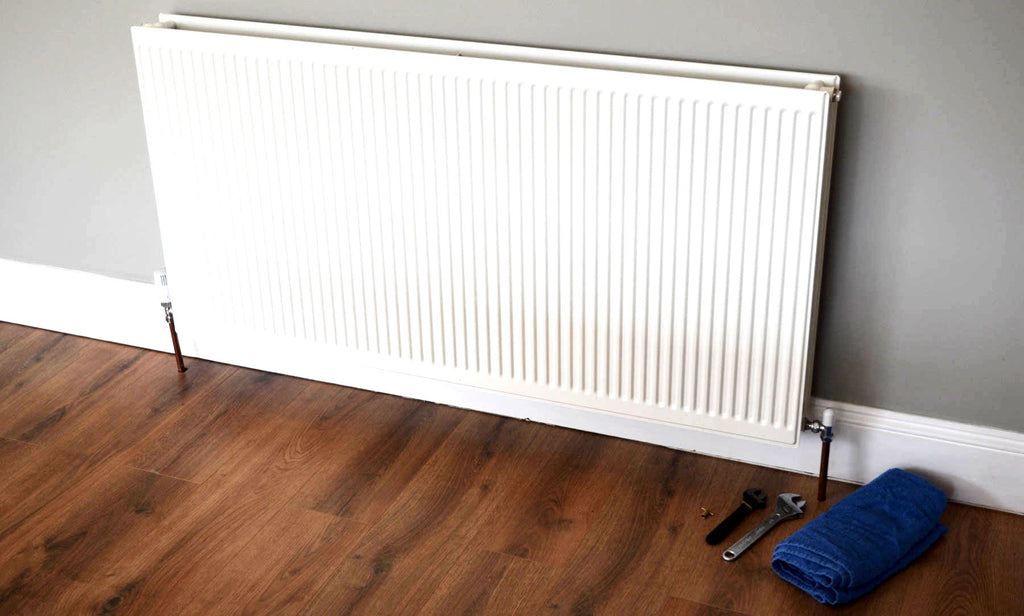 Standard UK radiator ready to remove