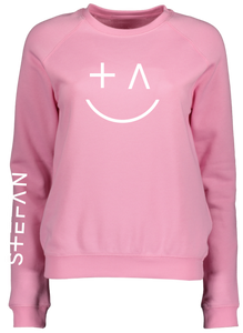 Ladies Pink Sweatshirt Smiley