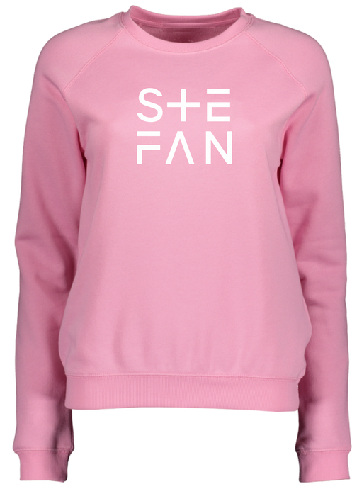 Ladies Pink Sweatshirt Ste Fan