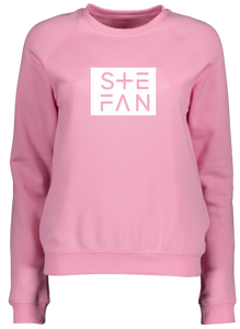 Ladies Pink Sweatshirt Ste Fan Framed