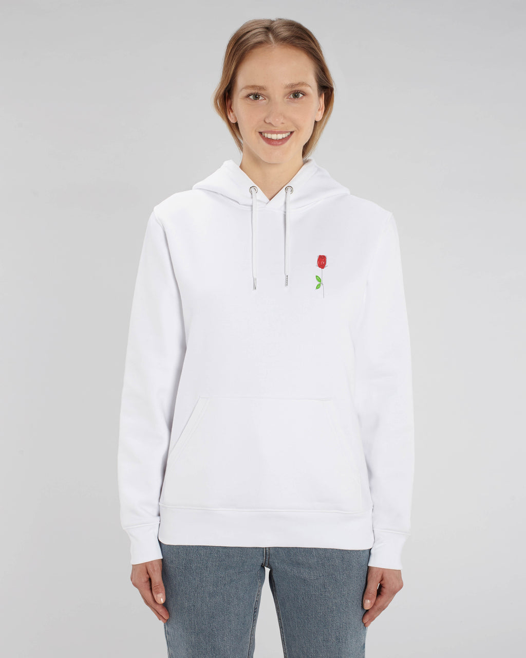 Hoodie passion (white)