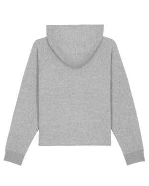 Cropped hoodie Amour (Grey)