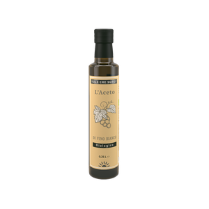Sole che Sorge. Best White Wine Vinegar Organic & Unfiltered with the Mother 250ml Glass Bottle