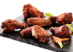 Grillede hot wings (1 & 2 led), 30-40g