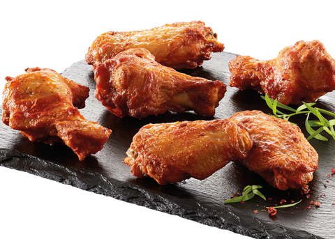 Grillede bbq wings, 30-40g
