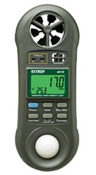 EXTECH HYGRO-THERMO ANEMOMETER LIGHT METER