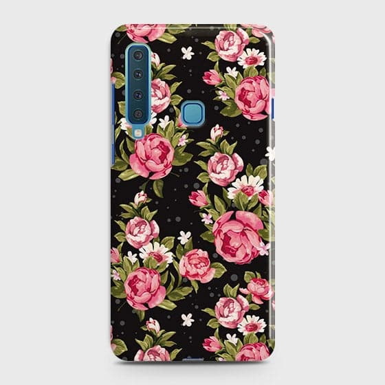 Trendy Pink Rose Vintage Flowers Case For Samsung Galaxy A9 2018